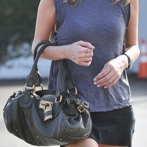Chloe paddington bag in BLK with key and lock